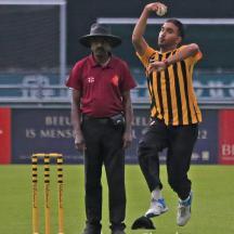 Musa Ahmad bowling
