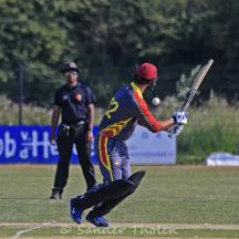 Touseef Ahmed flicks the ball over square