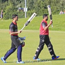 Saleem and Ibrahimkhil leave the field as heroes